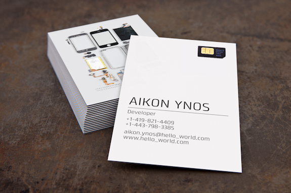 Bits and Pieces on a Business Card