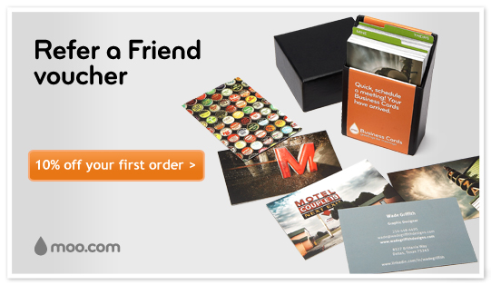 Refer a friend voucher - 10% off your first order