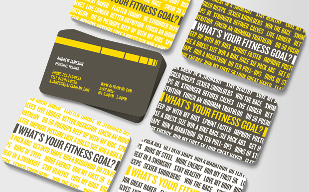 personal trainer fitness instructor business cards moo moo
