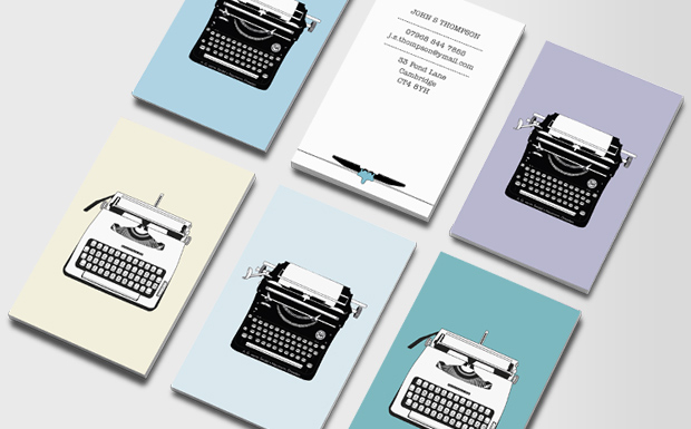 Writers freelance writer journalist business cards for Freelance business cards