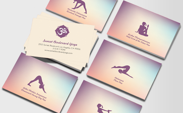 Yoga Business Cards Business Card For Yoga Teachers