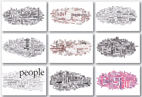 Wordle cards by Stephanie Galvin