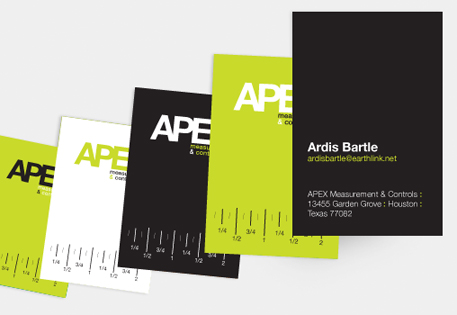 Apex measurement moo united states apex uses ruler marks across its moo business cards to highlight its skills reheart Images