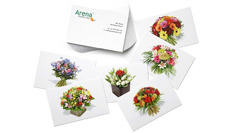 Green business card ideas moo united states your business cards can showcase your products and your beliefs take inspiration from the online eco florists arena flowers colourmoves