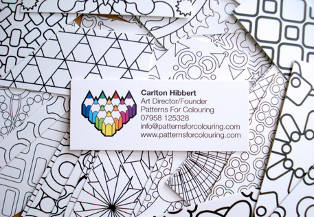 Colour-in MiniCards by Carlton Hibbert