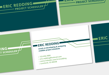 Eric Redding used MOO Business Cards and Printfinity to create a varied pack that enhanced his image