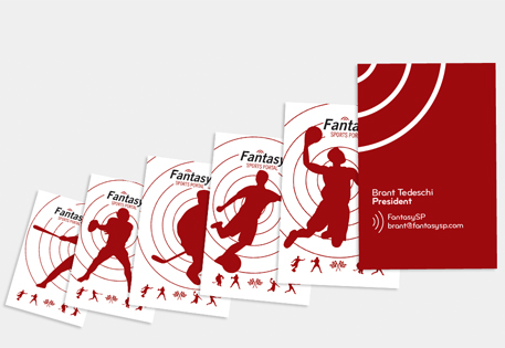 Fantasy Sports Portal use printfinity to show various silhouettes of sports people