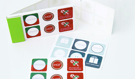 Holiday Stickers to wrap up presents