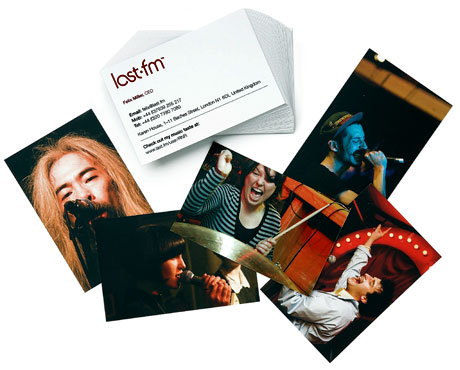 Last.FM use MOO Business Cards to show the changing faces of the music scene
