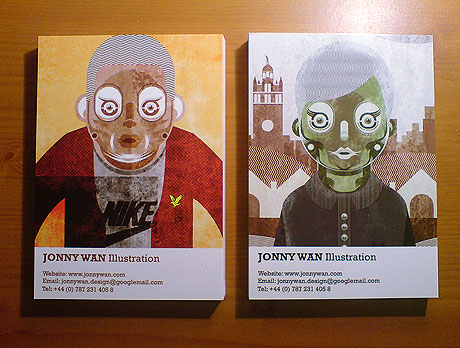 Illustrated Postcards by Jonny Wan