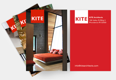 Kite Architects use Printfinity on MOO Business Cards to show off examples off their work
