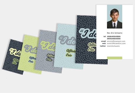Officiant Eric's Modern and Quirky MOO Business Cards