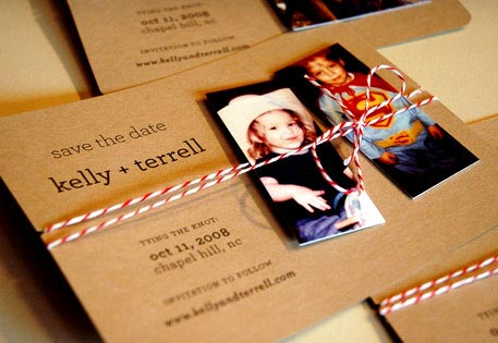 Kelly used MOO MiniCards to add a personal touch to her Save-the-date cards