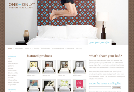 Online storefront examples by Shopify