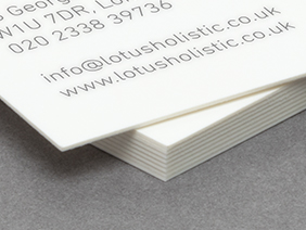 Our classic paper stock close up photograph of business cards