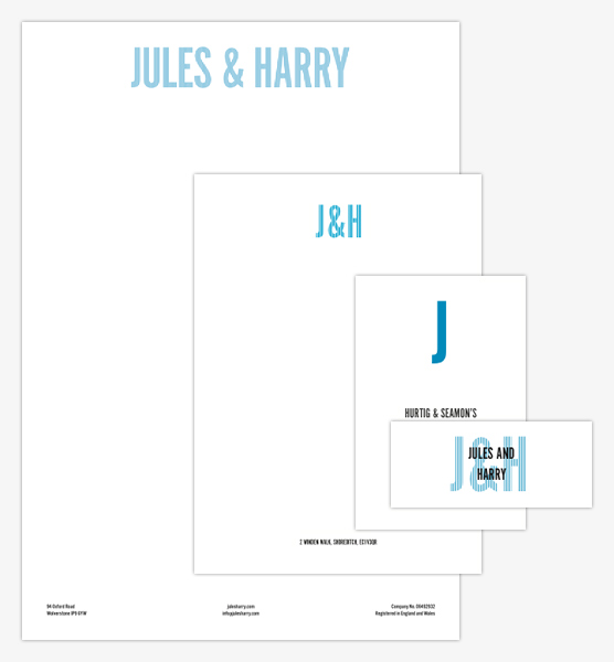 Famille de designs Jules and Harry