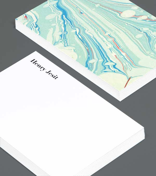 Notecard designs - Marble Marvel