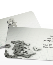 Preview image of Business Card design 'Balancing the books'