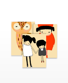 Postcard designs - Bashful Kids