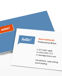 Business Card designs - Multilingual Greetings