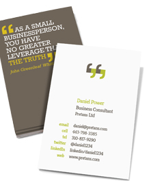 Preview image of Business Card design 'You can quote me'