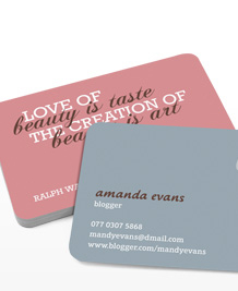 Preview image of Business Card design 'Beauty is Art'