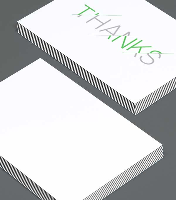 Notecard designs - Splinters Thank You