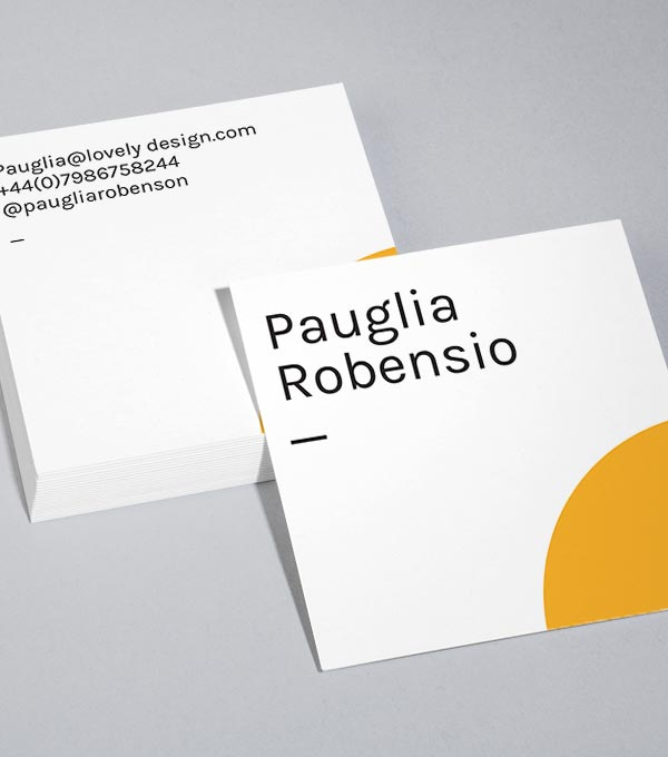 Square Business Card designs - Quarter Sun