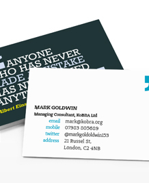 Preview image of Business Card design 'You can quote me 3'