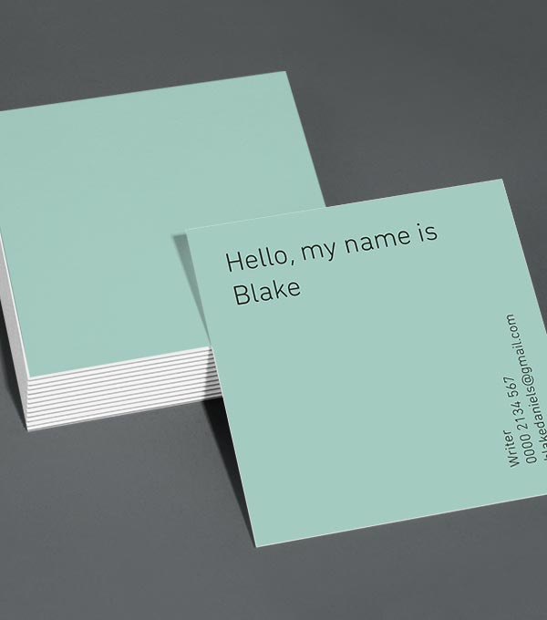 Square Business Card designs - Greetings