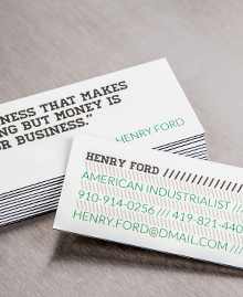 Designs de MiniCards - Henry Ford
