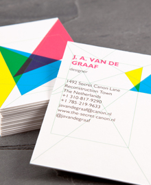Preview image of Business Card design 'VanDeGraaf'
