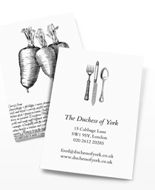 Preview image of Business Card design 'Mother's secret recipes'
