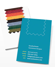 Preview image of Business Card design 'Fabric First'