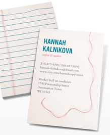 Preview image of Business Card design 'Between The Lines'