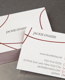 Preview image of Business Card design 'Jackie Onassis'