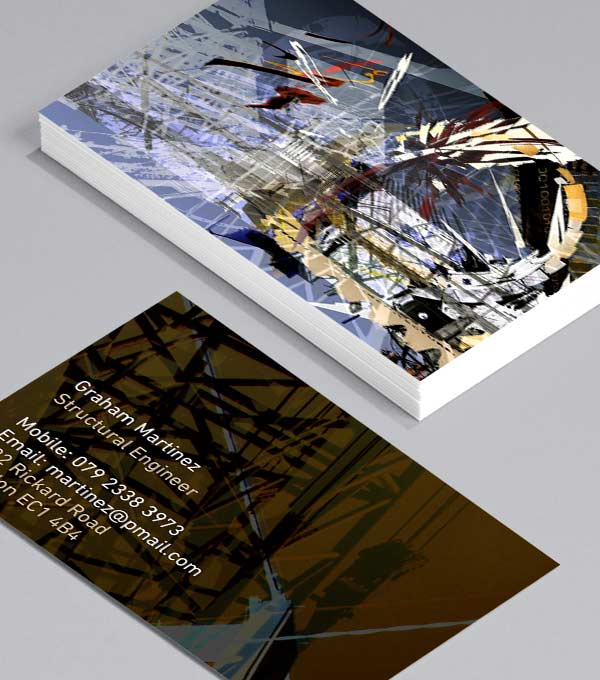 Designs de Cartes de Visite - Graphic City Scenes