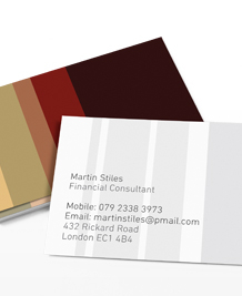 Preview image of Business Card design 'COLOURLovers Brown'