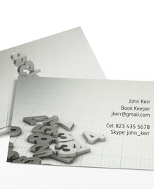 Business Card designs - Balancing the books