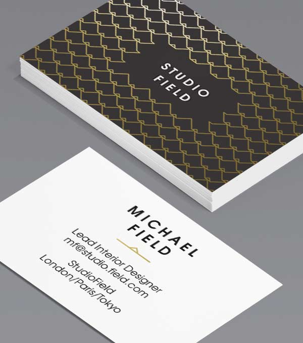 Tailored Collection Business Card Designs Gold Foil Spot UV