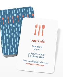 Preview image of Business Card design 'Café Utensils'