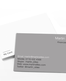 Preview image of Business Card design 'Less is More'