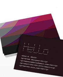 Designs de Cartes de Visite - Les couleurs du Web