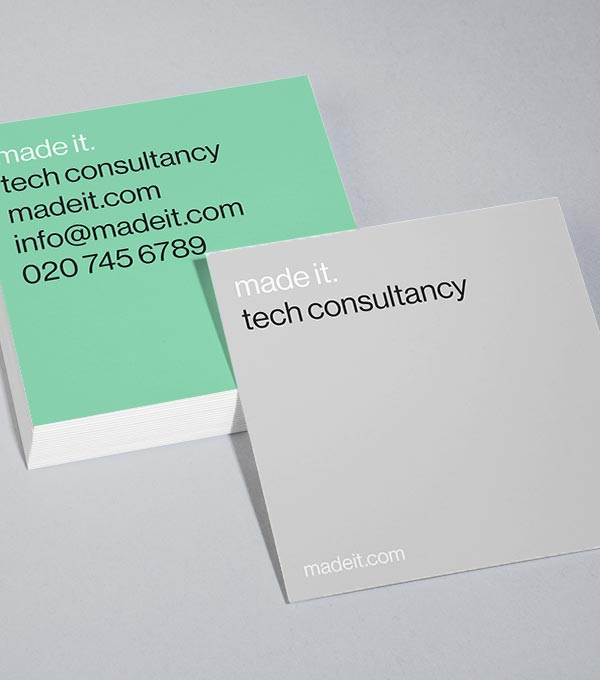 Square Business Card designs - Can't Miss