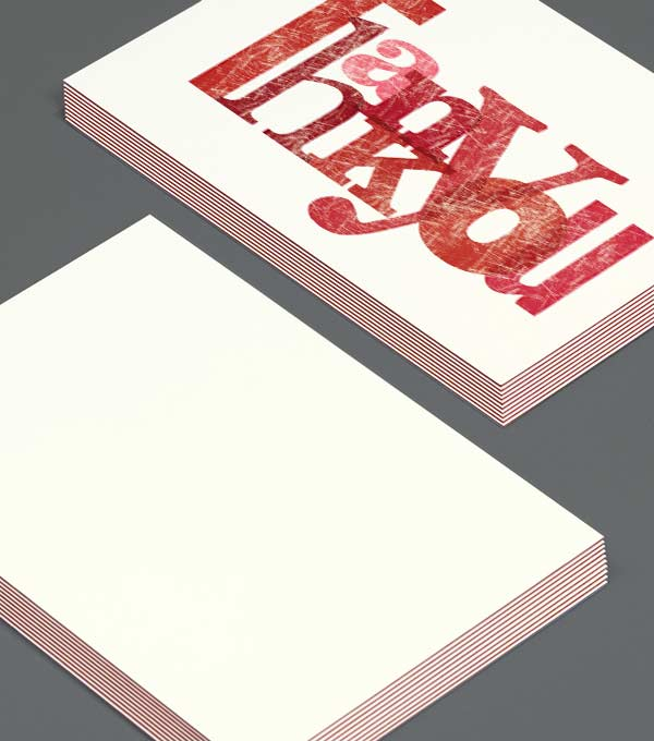 Notecard designs - Gutenberg