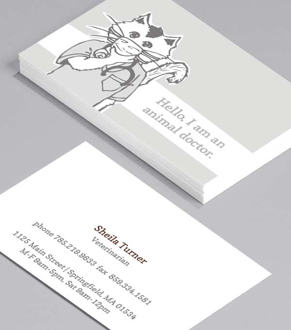 Business Card designs - Animal Doctors