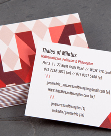Preview image of Business Card design 'Thales'