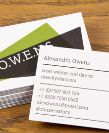 Preview image of Business Card design 'Alexandra Owens'