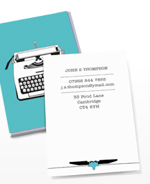 Preview image of Business Card design 'Vintage Typewriters 1'