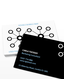 Preview image of Business Card design 'Go with the flow(chart)'